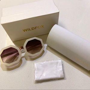 Ivory White Oversized Ava Octagonal Sunglasses